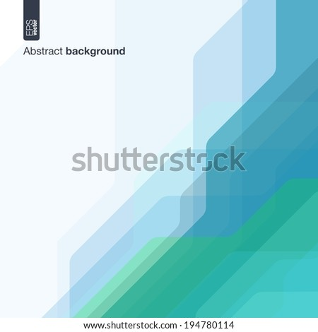 Technology concept. Vector abstract background with technical lines for presentations, business, web, computer and mobile apps, graphic design: colored digital network in geometric motion - stock vector