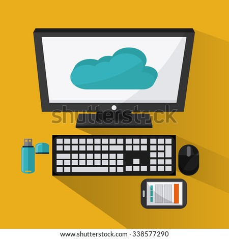 Technology concept with devices icons design, vector illustration 10 eps graphic.