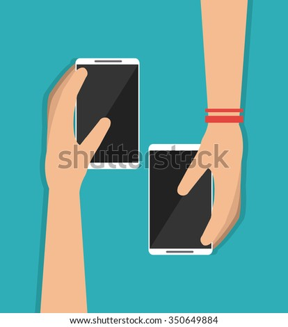 Technology concept with smartphone design, vector illustration 10 eps graphic.