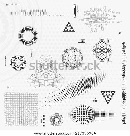 Technology design elements - stock vector