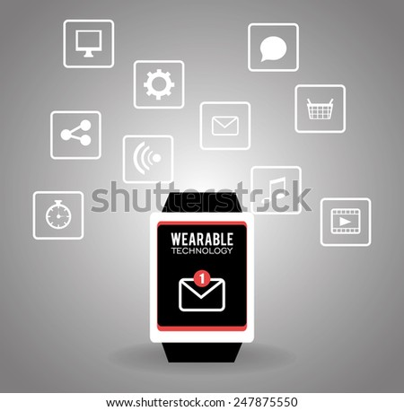 Technology design over gray background ,vector illustration.
