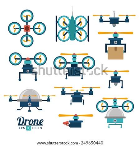 Technology design over white background, vector illustration. - stock vector