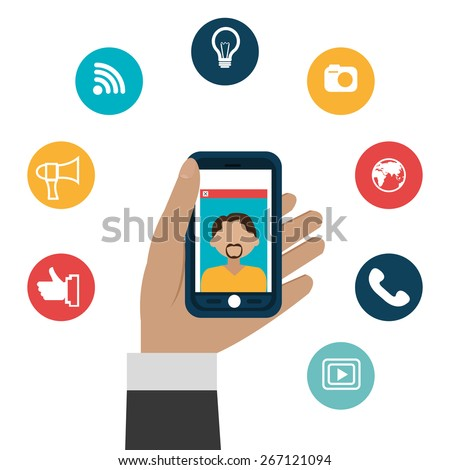 Technology design over white background, vector illustration.