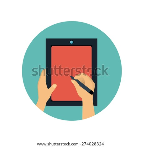 Technology design over white background, vector illustration