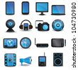 Technology device icons - vector icons - stock photo
