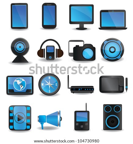 Technology device icons - vector icons