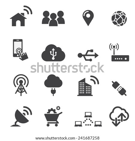 technology icon - stock vector
