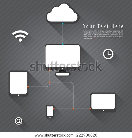 technology icon concept idea, Vector illustration Modern template Design
