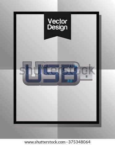 Technology icon design - flash, thumb drive