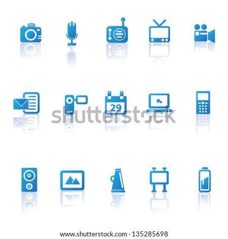 Technology icon set,vector - stock vector