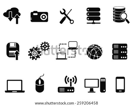 Technology Icons set - stock vector