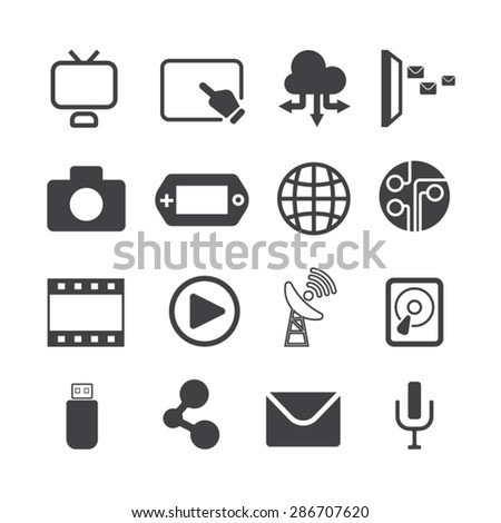 Technology icons,Vector - stock vector