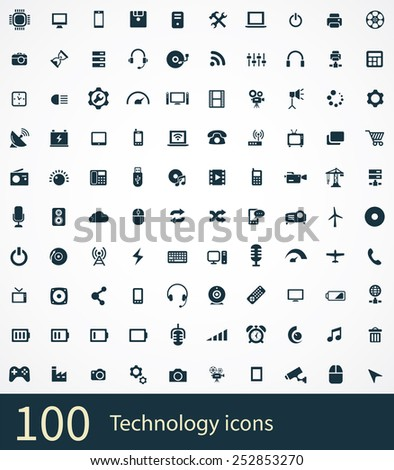 technology Icons Vector set.