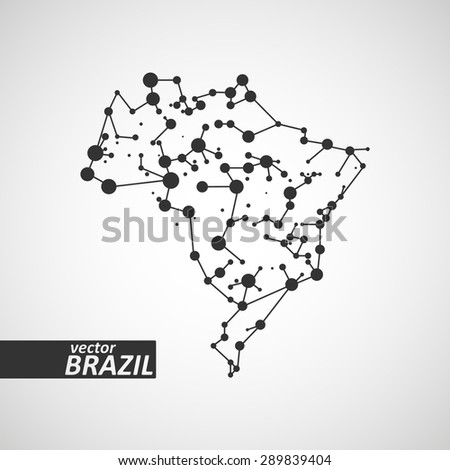 Technology image of Brazil. The concept vector illustration eps10 - stock vector