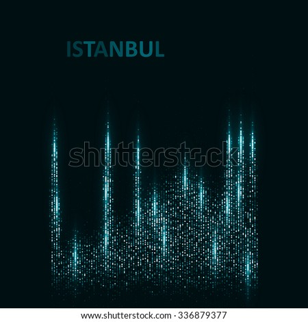 Technology image of Istanbul. The concept vector illustration eps10