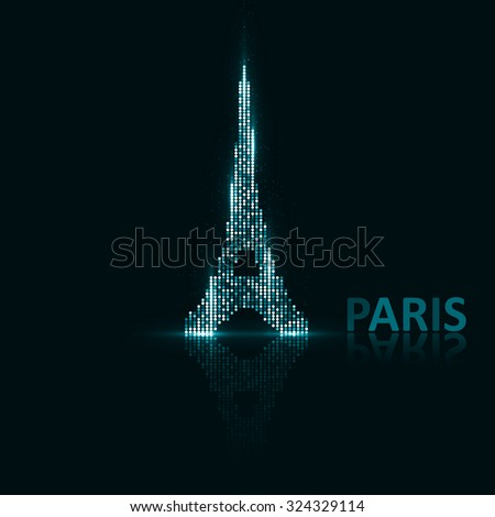 Technology image of Paris. The concept vector illustration eps10 - stock vector