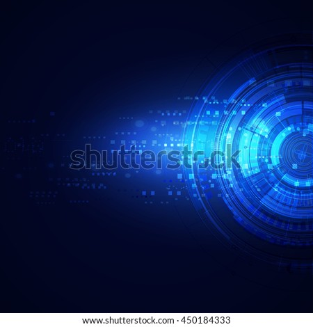 Technology modern futuristic digital background, Vector illustration