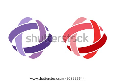 Technology orbit web rings logo. Vector circle ring logo design. Abstract flow logo template. Round ring shape and infinity loop symbol, technology icon, thin line logo. Company logo. Logo design - stock vector