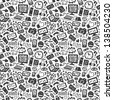 technology seamless pattern - stock photo