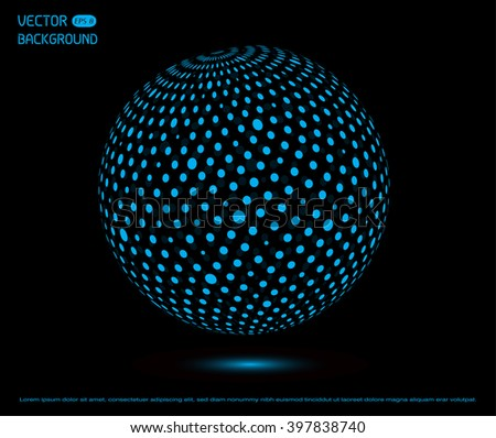 Technology sphere.Business sphere. Futuristic sphere.Vector globe design.