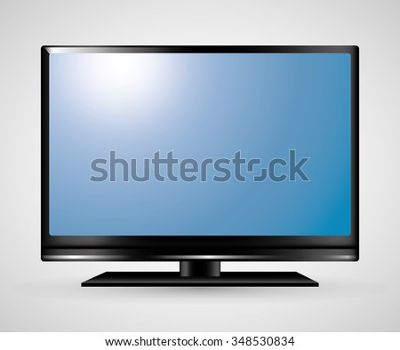 Technology TV screen graphic icon design, vector illustration eps10 - stock vector