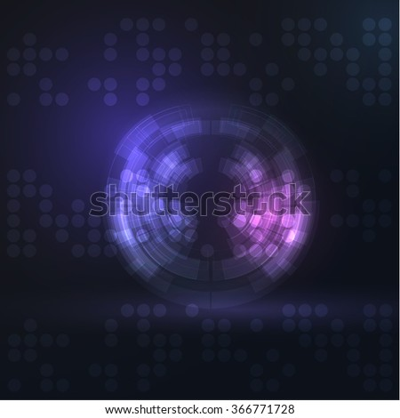 Technology vector circle shiny sphere background. Eps10. - stock vector