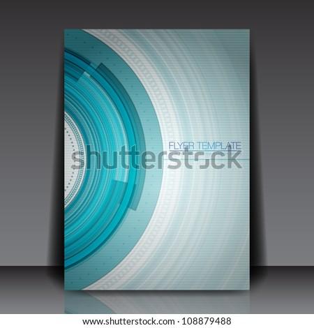 Technology Vector Flyer Design - EPS10 Background - stock vector