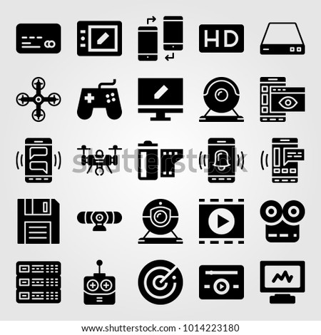Technology vector icon set hd router stock vector hd royalty free technology vector icon set hd router tablet and credit card keyboard keysfo Gallery