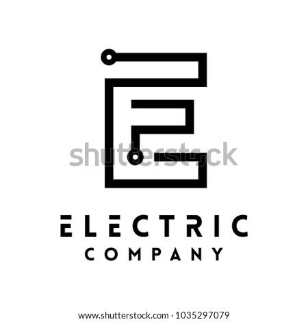 Technology Vector Logotype Forming Letter E Stock Vector 1035297079 ...
