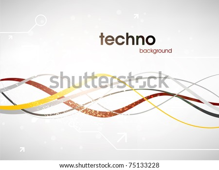 Technology web background/banner for business design. Eps 10. - stock vector