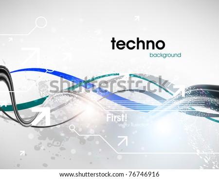 Technology web background/banner for business design. Vector Eps 10. - stock vector