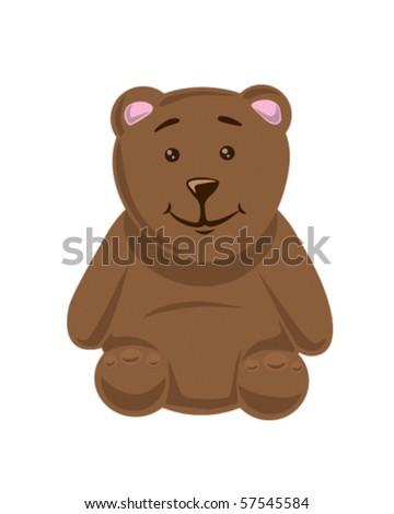 Teddy bear sitting - stock vector