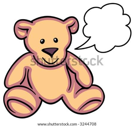 Teddy Bear - Vector Illustration - stock vector