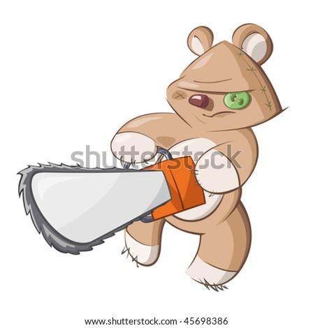 Teddy's revenge - stock vector