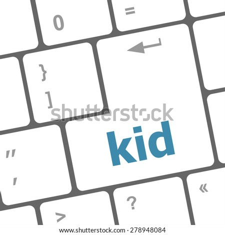 Teens word button on keyboard with soft focus vector
