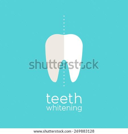 Teeth whitening - stock vector