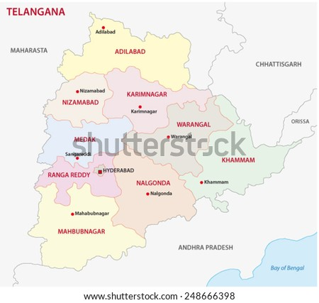 telangana district map
