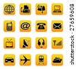 Telecom and transportation vector icons - stock vector