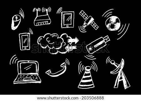 Telecommunication Signal   - stock vector