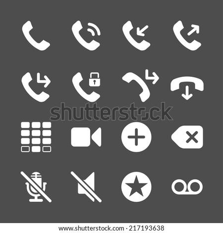 telephone application icon set, vector eps10. - stock vector