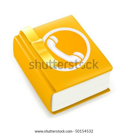 Telephone directory, vector icon - stock vector