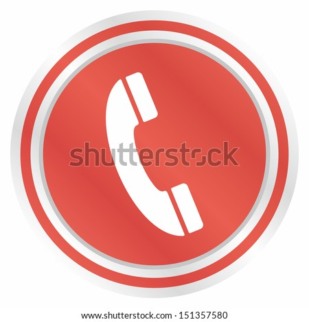 Telephone (Elegance plus, red version) - stock vector