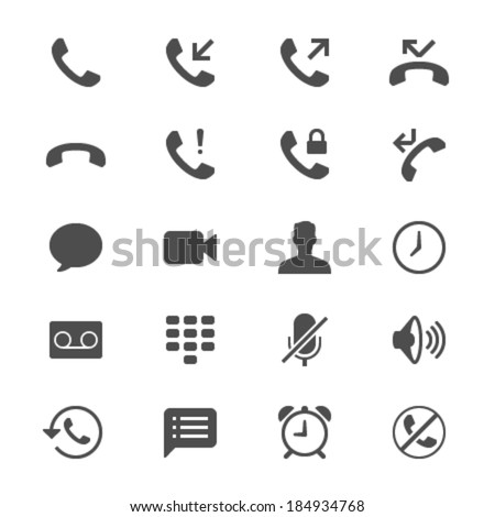 Telephone flat icons - stock vector