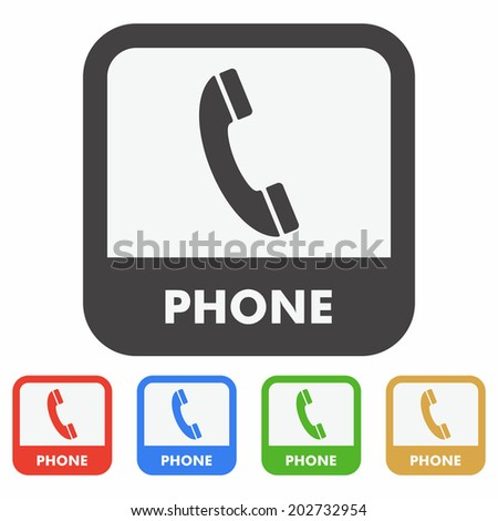 Telephone icon - stock vector