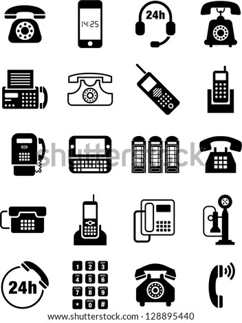 Telephone icons - stock vector