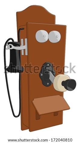 Telephone (Old) -  Vector Artwork - stock vector