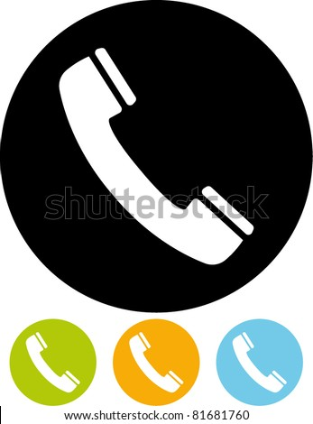 Telephone receiver vector icon - stock vector