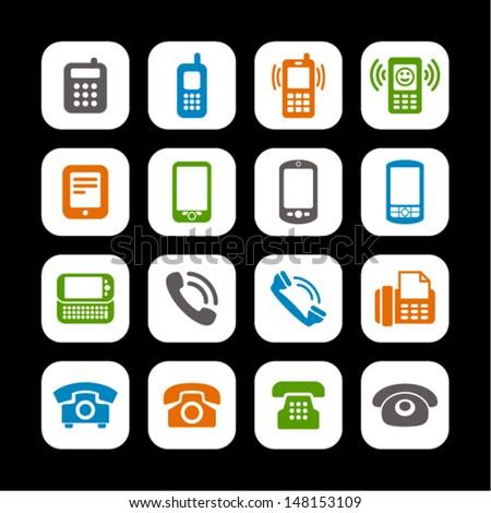 Telephone Symbol Stock Vector 148153109 Shutterstock
