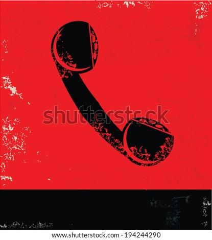Telephone symbol,vector - stock vector