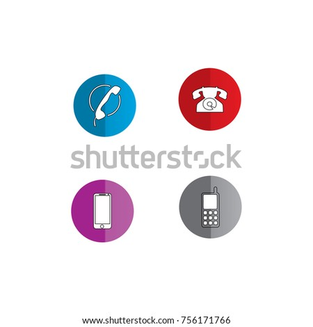 Telephone Template Logo Stock Vector 756171766 - Shutterstock